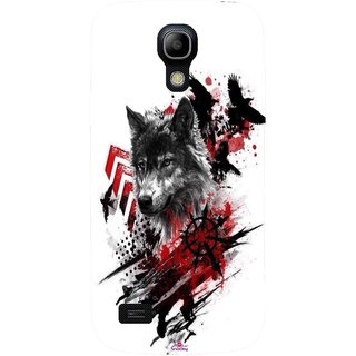 Snooky Printed 1121,wolf polka trash Mobile Back Cover of Samsung Galaxy S4 - Multi