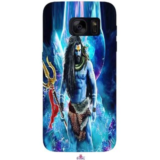 Snooky Printed 1042,Lord Shiva Rudra Mobile Back Cover of Samsung Galaxy S7 - Multi