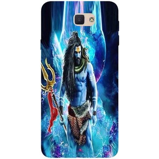 Snooky Printed 1042,Lord Shiva Rudra Mobile Back Cover of Samsung Galaxy J7 Prime - Multi