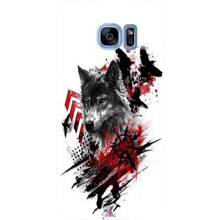 Snooky Printed 1121,wolf polka trash Mobile Back Cover of Samsung Galaxy S7 Edge - Multi