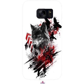 Snooky Printed 1121,wolf polka trash Mobile Back Cover of Samsung Galaxy S7 - Multi