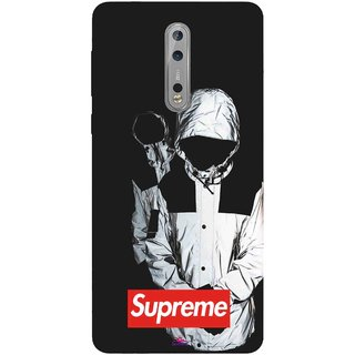 Snooky Printed 1084,Sad Supreme Mobile Back Cover of Nokia 8 - Multi
