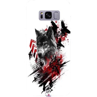 Snooky Printed 1121,wolf polka trash Mobile Back Cover of Samsung Galaxy S8 - Multi