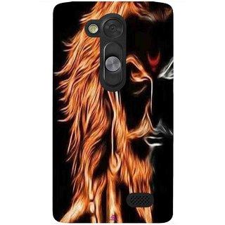 Snooky Printed 1086,shivaji maharaj image 3d Mobile Back Cover of LG L Fino - Multi