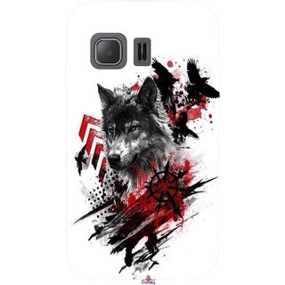 Snooky Printed 1121,wolf polka trash Mobile Back Cover of Samsung Galaxy Young 2 - Multi