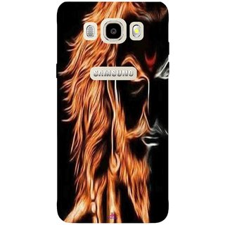 Snooky Printed 1086,shivaji maharaj image 3d Mobile Back Cover of Samsung Galaxy J7 (2016) - Multi