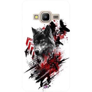Snooky Printed 1121,wolf polka trash Mobile Back Cover of Samsung Z2 - Multi