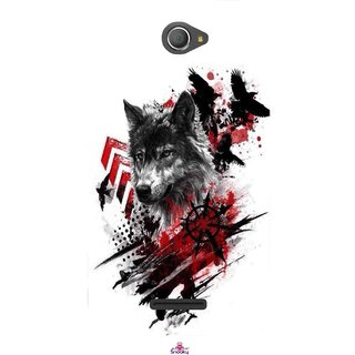 Snooky Printed 1121,wolf polka trash Mobile Back Cover of Sony Xperia E4 - Multi