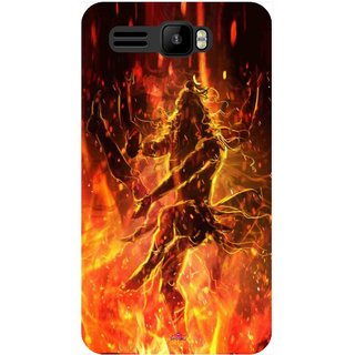 Snooky Printed 1043,Lord Shiva Mobile Back Cover of Intex Aqua R3 - Multi