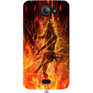 Snooky Printed 1043,Lord Shiva Mobile Back Cover of Intex Aqua Wave - Multi