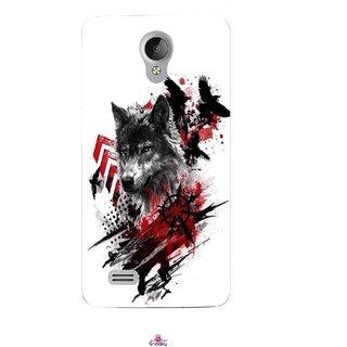 Snooky Printed 1121,wolf polka trash Mobile Back Cover of Vivo Y21 - Multi