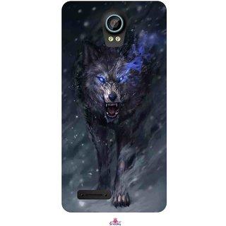 Snooky Printed 1122,Wolf Spirit Animal Mobile Back Cover of Intex Aqua Life 2 - Multi