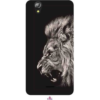 Snooky Printed 1079,Roaring lion Mobile Back Cover of Gionee Pioneer P5 mini - Multi