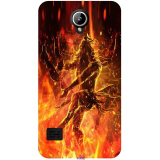 Snooky Printed 1043,Lord Shiva Mobile Back Cover of LYF Flame 2 - Multi