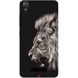 Snooky Printed 1079,Roaring lion Mobile Back Cover of Gionee Pioneer P5W - Multi