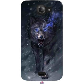 Snooky Printed 1122,Wolf Spirit Animal Mobile Back Cover of Intex Aqua Wave - Multi