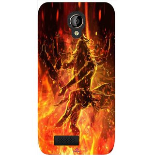 Snooky Printed 1043,Lord Shiva Mobile Back Cover of LYF Flame 6 - Multi