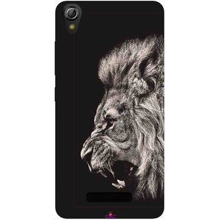 Snooky Printed 1079,Roaring lion Mobile Back Cover of Gionee Pioneer P6 - Multi