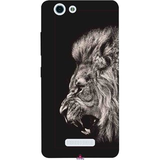 Snooky Printed 1079,Roaring lion Mobile Back Cover of Gionee S Plus - Multi
