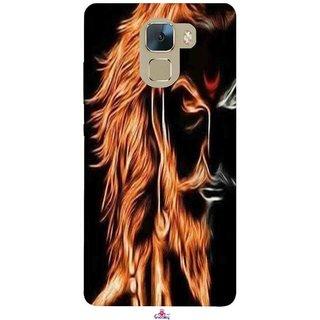 Snooky Printed 1086,shivaji maharaj image 3d Mobile Back Cover of Huawei Honor 7 - Multi