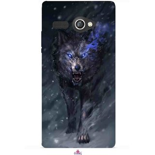 Snooky Printed 1122,Wolf Spirit Animal Mobile Back Cover of Lava Flair P1 - Multi