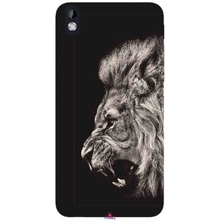Snooky Printed 1079,Roaring lion Mobile Back Cover of HTC Desire 816 - Multi