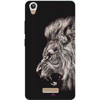 Snooky Printed 1079,Roaring lion Mobile Back Cover of Lva X9 - Multi