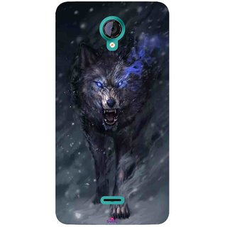 Snooky Printed 1122,Wolf Spirit Animal Mobile Back Cover of Micromax Canvas Unite 2 - Multi