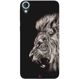 Snooky Printed 1079,Roaring lion Mobile Back Cover of HTC Desire 820 - Multi