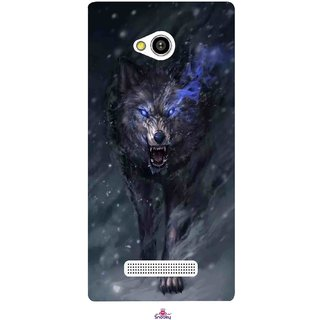 Snooky Printed 1122,Wolf Spirit Animal Mobile Back Cover of Lava Flair Z1 - Multi