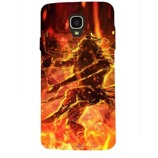Snooky Printed 1043,Lord Shiva Mobile Back Cover of Micromax Bolt Q325 - Multi