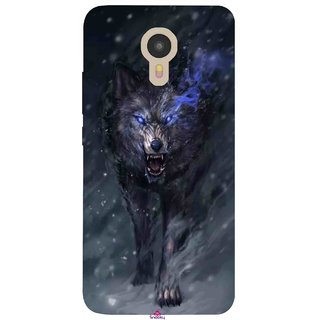 Snooky Printed 1122,Wolf Spirit Animal Mobile Back Cover of Micromax YU Yunicorn - Multi