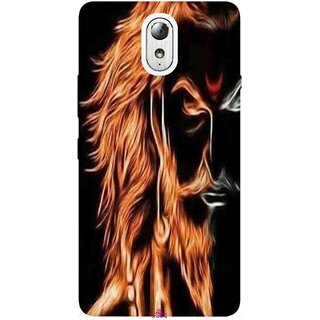 Snooky Printed 1086,shivaji maharaj image 3d Mobile Back Cover of Lenovo Vibe P1M - Multi