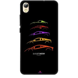 Snooky Printed 1087,silhouette history car Mobile Back Cover of Tecno I5 Pro - Multi