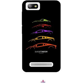 Snooky Printed 1087,silhouette history car Mobile Back Cover of Lava Flair P3 - Multi