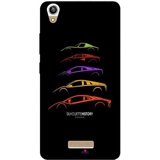 Snooky Printed 1087,silhouette history car Mobile Back Cover of Lava V1 Pixel - Multi