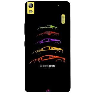 Snooky Printed 1087,silhouette history car Mobile Back Cover of Lenovo K3 Note - Multi