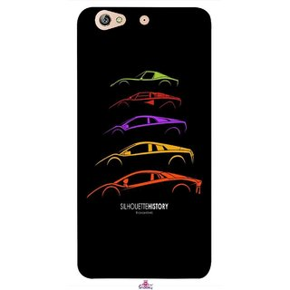 Snooky Printed 1087,silhouette history car Mobile Back Cover of Gionee Elife S6 - Multi