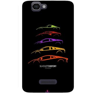 Snooky Printed 1087,silhouette history car Mobile Back Cover of Micromax Canvas 2 A120 - Multi