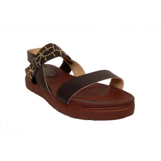 Studio 09 Women Black Posh Sandals