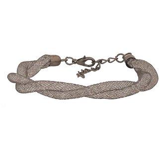Maayra Grey Dailywear Bracelet Free size Netted Stones Bracelet for Women