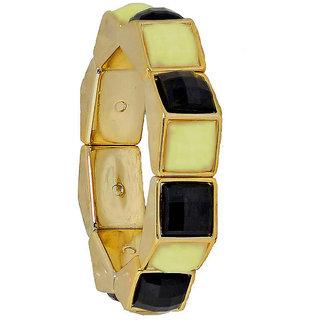 Maayra Black Party Bracelet Adjustable Stretch Elastic Bracelet for Women