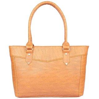 Aliado Faux Leather Mustard Zipper Closure Handbag