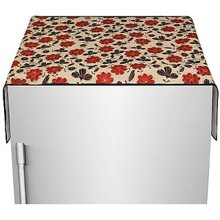 Glassiano Fridge Top Cover with 6 pockets
