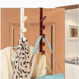 kudos Over the Door Organizer Rack Coats Caps Holder with 5 Hooks