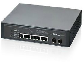 AirLive - POE-GSH1008ATU 8-Port Gigabit PoE including 2 SFP unmanaged 10/100/1000mbps network switch