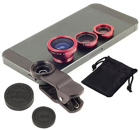 Universal 3 In 1 Mobile Camera Lens (Fish Eye + Wide An