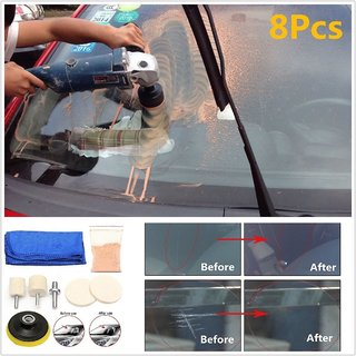 DIY Crafts  20 grm + 8 Pcs Repair Tool Auto Car Home Office Glass Polishing Kit Windscreen Windows Scratch Remover Combo Multiutility Kit