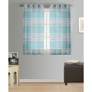 Purav Light Tissue Window Curtains Sheer Set of 2 Piece