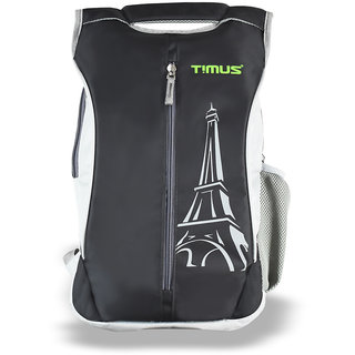 Timus Class 19 Litres Black College Bag School Casual Backpack for Boys and Girls 19 L Backpack (Black)